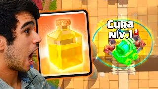 TESTEI A NOVA CARTA FEITIÇO DE CURA NO NOVO DESAFIO DO CLASH ROYALE
