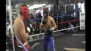 sparring GGG vs Chavez Jr. at Wild Card gym