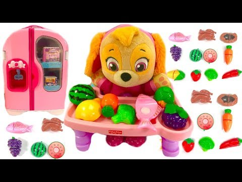 Paw Patrol Skye Eats Fruit & Vegetables Refrigerator Fridge with Food