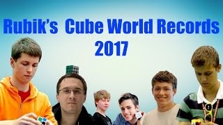 Rubik's Cube World Records [Early 2017]