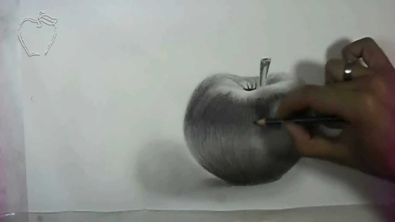 dibujando una manzana  drawing an apple  YouTube