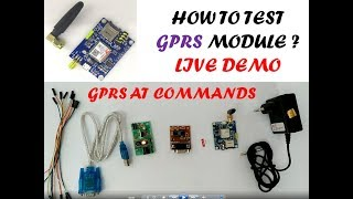 #15 SIM800C GSM GPRS TCP/IP AT Commands Testing with Amazon, AWS Video