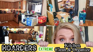 HOARDER!!! KITCHEN CLEANING & ORGANIZATION | CLEAN WITH ME | SAHM MOTIVATION | LIVING WITH CAMBRIEA