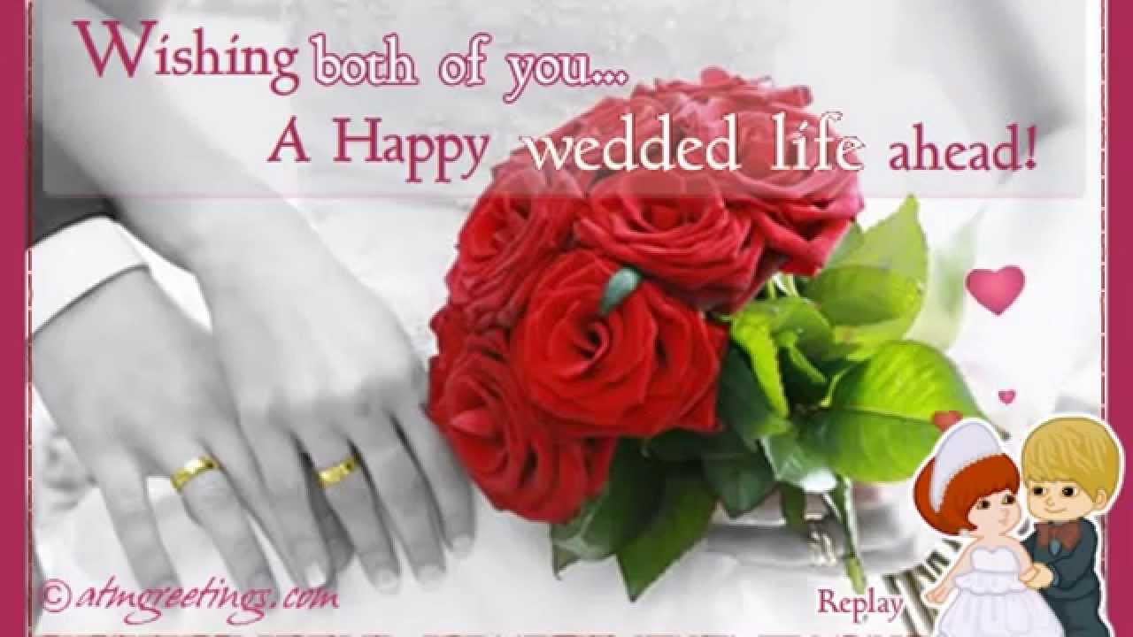 Wedding E Cards Wishes Messages Greeting Cards Video 13