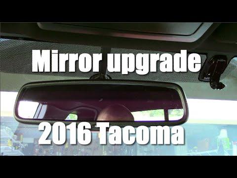 2016 Tacoma Rear View Mirror Upgrade - Gentex/Homelink - YouTube