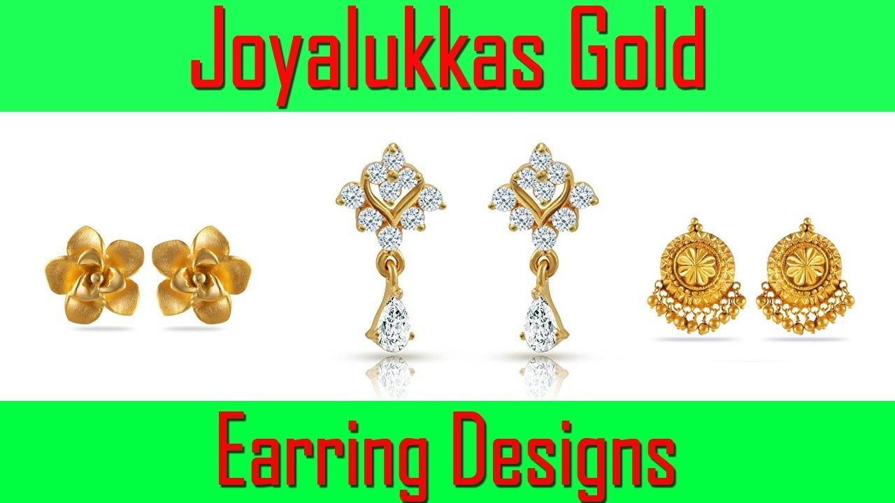 8737c8f15 Joyalukkas Gold Earring Designs - YouTube