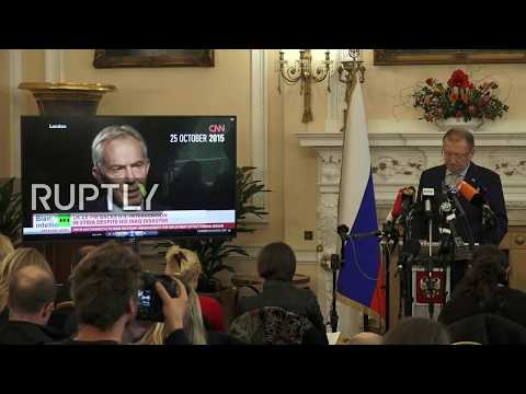 Live: Russian ambassador to the UK holds press conference in London