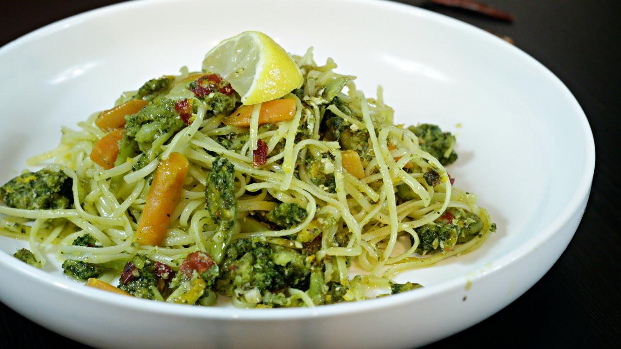 Frozen Vegetable Pesto Pasta that's super quick and easy.