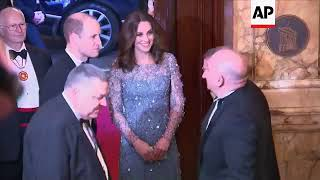 William and Kate arrive for Royal Variety Performance