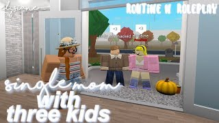 ROBLOX | Bloxburg: My DAILY ROUTINE as a Single Mom | Roleplay