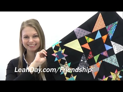 How To Make A Scrappy Star Patchwork Quilt Block - Friendship Quilt