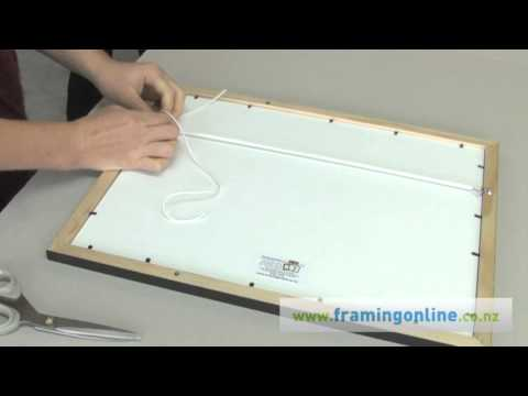 How to Frame a Picture: Tying Cord