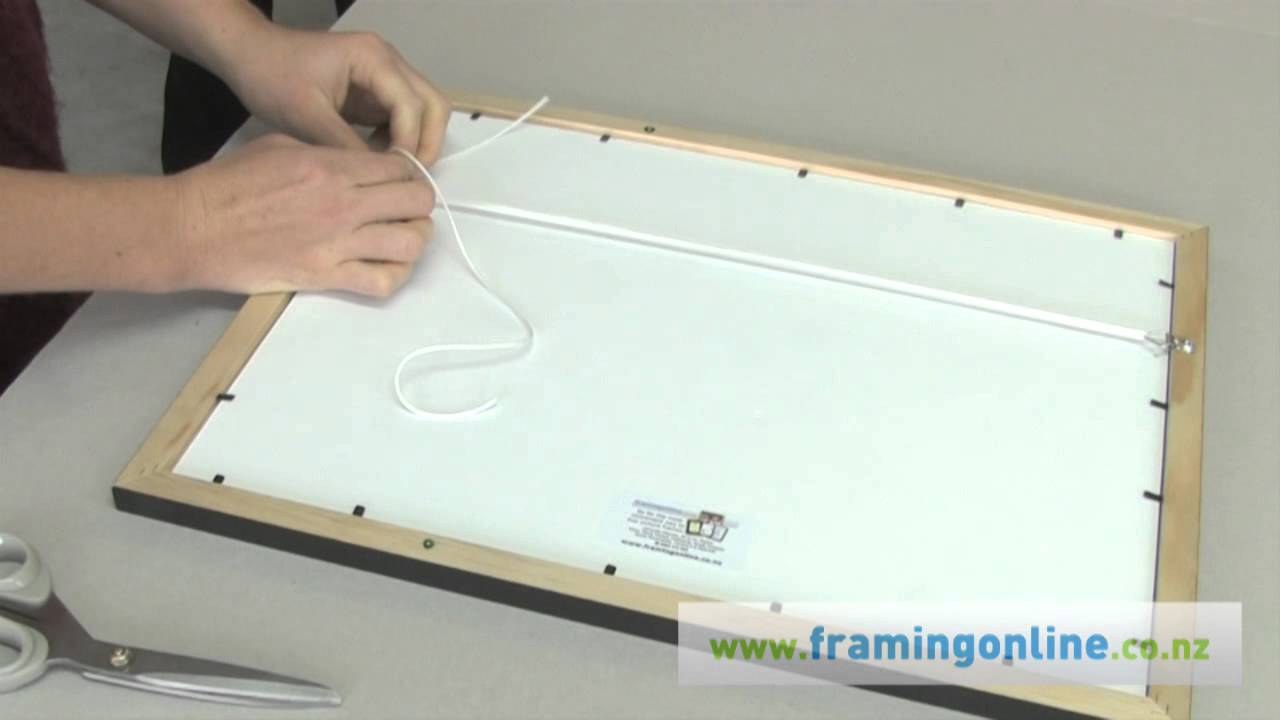 How To Frame A Picture Tying Cord Youtube