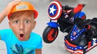 سينيا ودراجته النارية الجديدة كابتن أمريكا