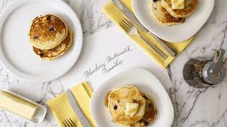 Buttermilk Pancakes with Blueberries- Martha Stewart