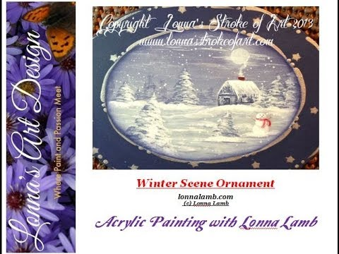 Winter Scene Ornament in Acrylic