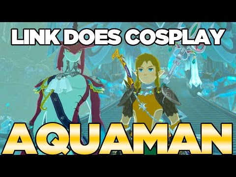 Link Does COSPLAY! Aquaman Cosplay in Breath of the Wild   Austin John Plays
