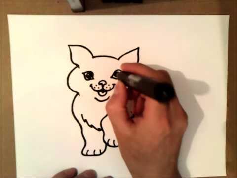 Come disegnare un gatto come disegnare un gatto passo for Cane da disegnare per bambini