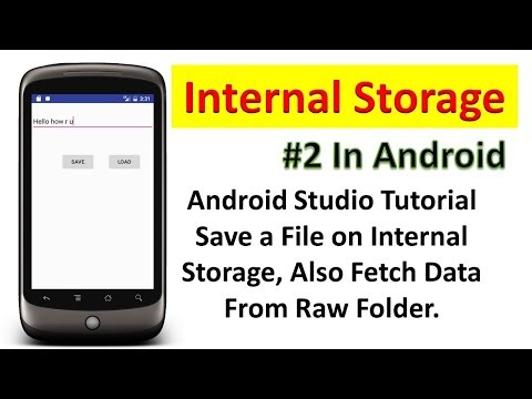 Save a File on Internal Storage Also Read Data from Raw Folder (In