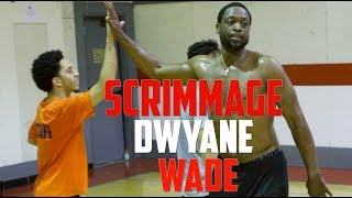 Dwyane Wade plays 5 on 5 with random NBA Fans