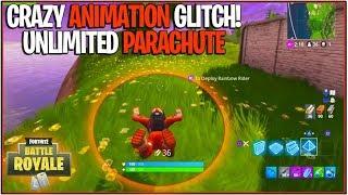 *NEW* FORTNITE UNLIMITED PARACHUTE GLITCH! | (Parachute Animation Glitch/Walking Glitch)