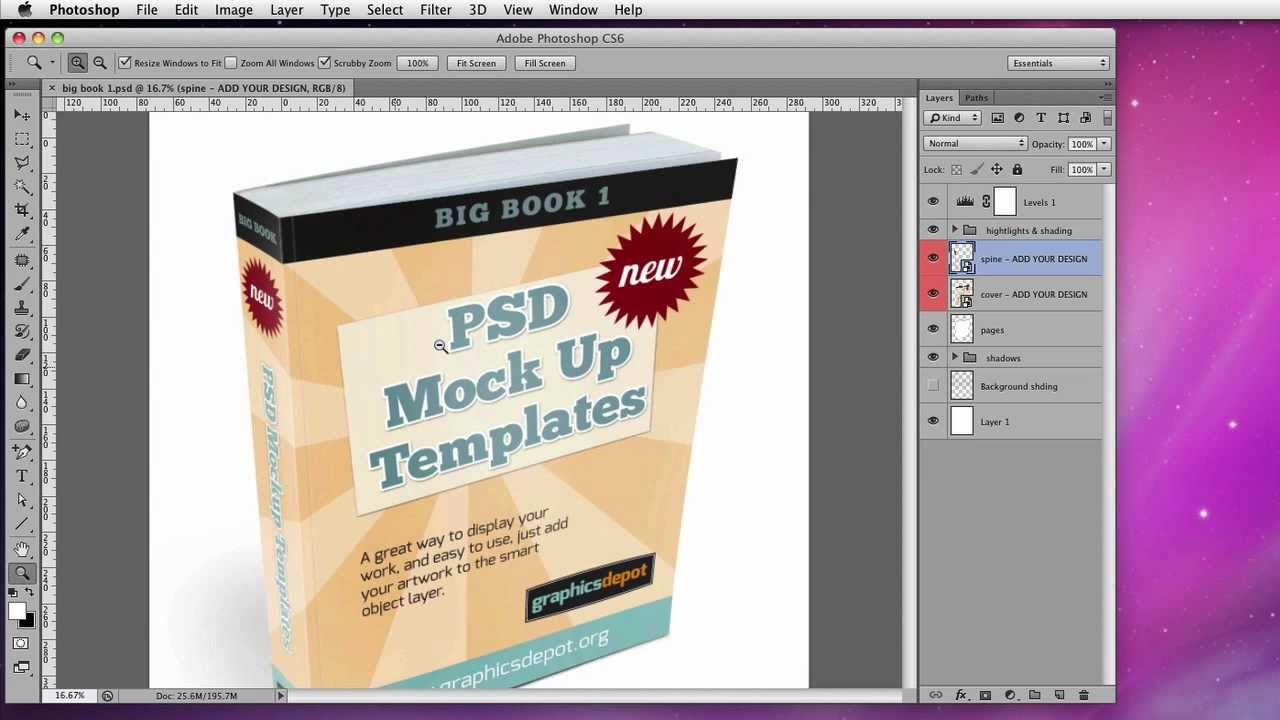 How To Edit Psd Smart Object Mockup Templates Youtube