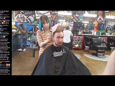 Asmongold Goes Out With Pink Sparkles to Get a Haircut
