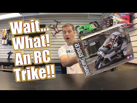 SO COOL Radio Control Trike! Tamiya RC Dancing Rider Trike Electric Kit - Pt 1 Unboxing | RC Driver