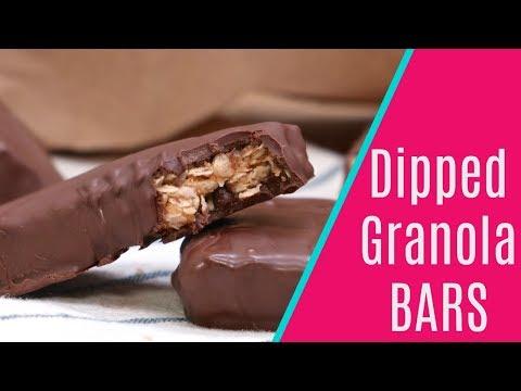 Chocolate Chip Dipped Granola Bars
