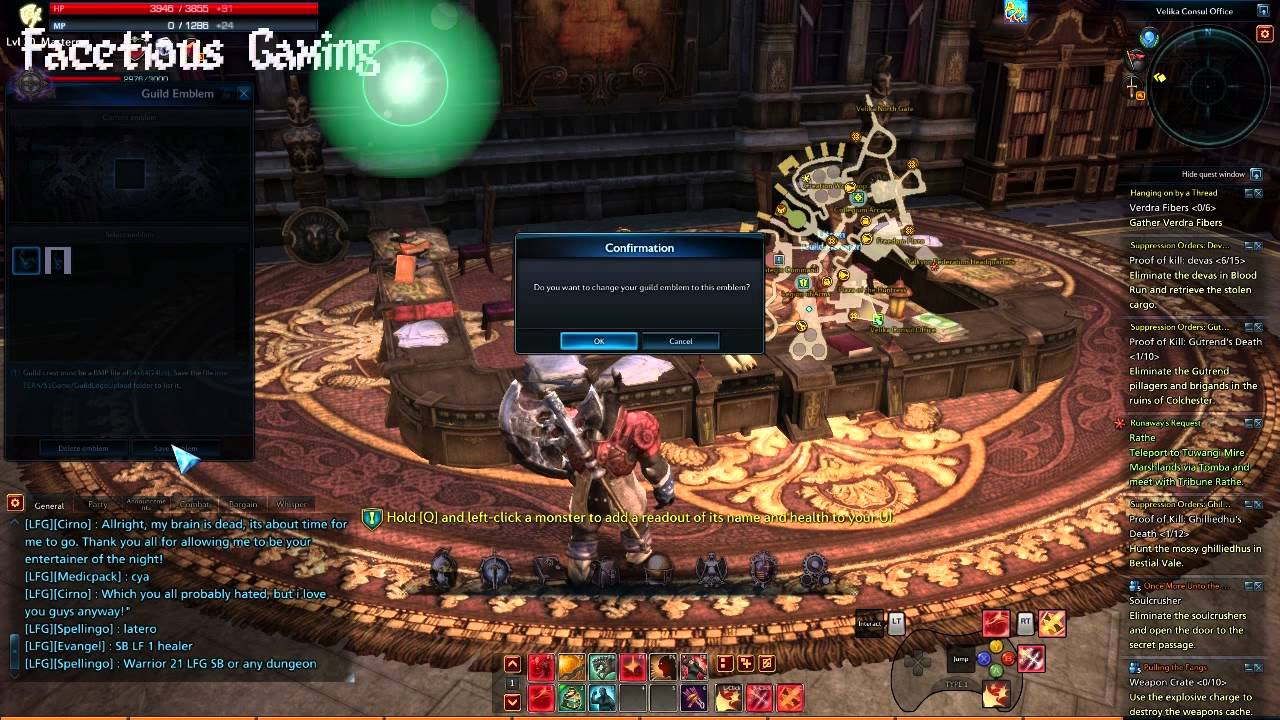 Tera Online How To Make A Guild And Guild Emblem Youtube