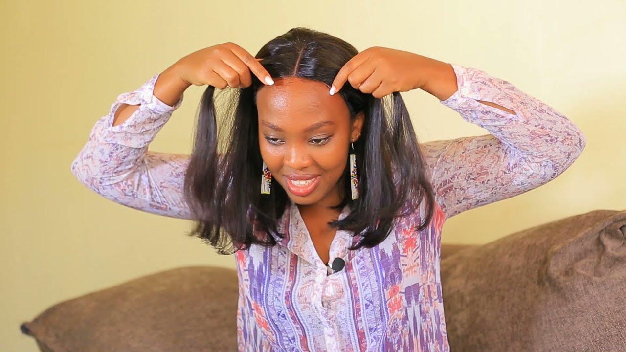 Download Uhita usa neza mu minota 10| uko wakora makeup yoroshye buri munsi| Wigs imisatsi igezweho|Peacine