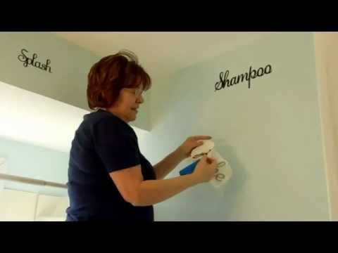 Bathroom Vinyl Wall Art Using Cricut YouTube - How to make vinyl wall decals with cricut