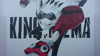 Time Lapse Drawing: Happy Easter! - King Kazma from