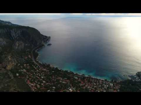 NICE DRONE. FRENCH RIVIERA EZE 06360