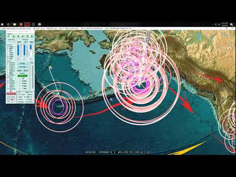 2/06/2018 -- Taiwan Large M6.4 earthquake NEXT TO VOLCANO + California now in motion