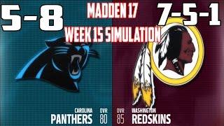 Madden 17 | Week 15 - Carolina Panthers vs Washington Redskins #Panthers