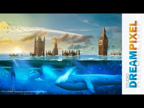 London Underwater Disaster (#Photoshop) | Matte Painting