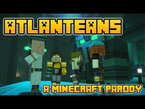"""Atlanteans"" A Minecraft Song Parody of Titanium by David Guetta (Minecraft Animation)"