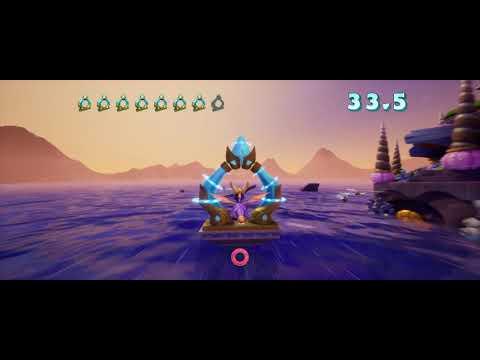 Spyro 2: Ripto's Rage (Reignited) - Ocean Speedway - Skillpoint - Under 1:10