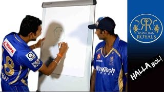 RR ART: Ankit Sharma draws Rahul Tewatia