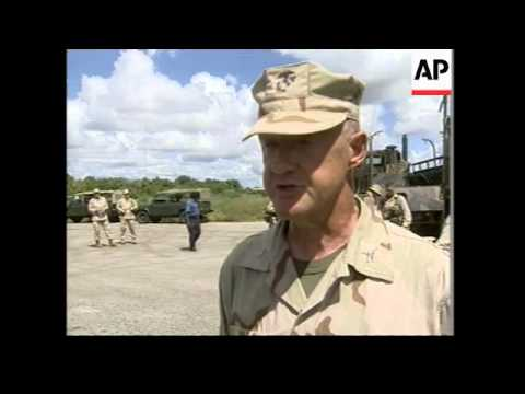 Joint exercises between Kenyan military and US marines