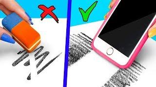 Life Hacks Fürs Gadgets In Der Schule! / 9 Möglichkeiten Verwenden Gadgets In Klasse Zu Schmuggeln