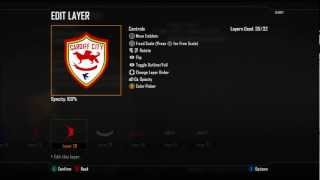 BO2 | Football Club Emblem Tutorial | Cardiff City Badge Ep.30