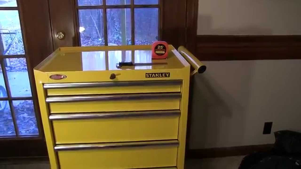 Stanley 27 Inch 5 Drawer Tool Cabinet (Chest) In Yellow   YouTube