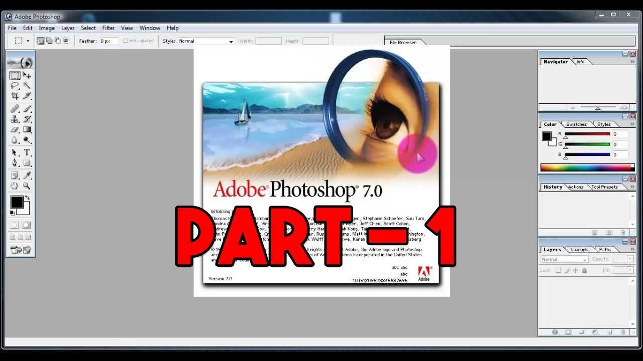 Adobe photoshop 7. 0 tutorial   how to change background youtube.