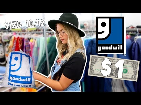 SIZE 12 GIRL TRIES GOODWILL $1 SALE
