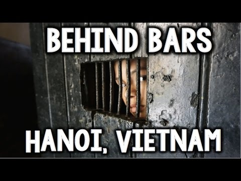 Behind Bars at Hoa Lo Prison in Hanoi, Vietnam- April 3, 201