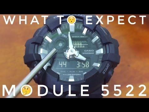 Casio G - Shock MODULE 5522 Tutorial | All Black GA-700 Big Case watch
