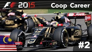 F1 2015 CO-OP Career Mode - Part 2 Malaysia