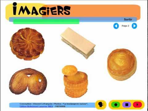 French for children = Imagiers = Vocabulaire = La pâtisserie suisse #3
